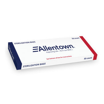 50 Count Box, Sterilization Bags with Tie Wraps