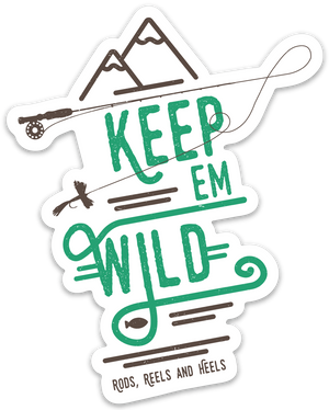 Keep 'em Wild Rod Sticker