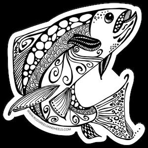 Ruby River Fish Sticker- Small