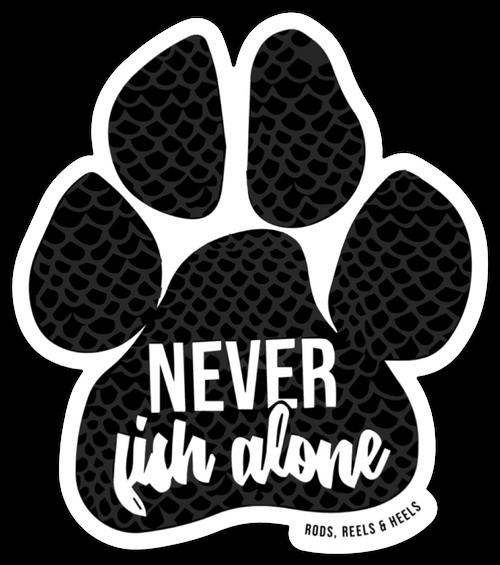 Paw Sticker - Never Fish Alone