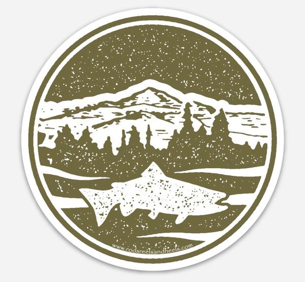 Mountain Trout Sticker