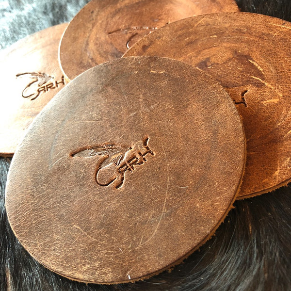 Leather Stamped Coasters