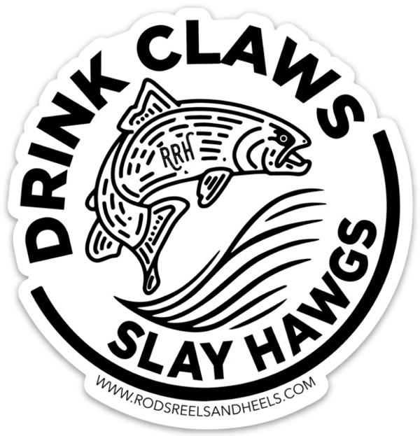 Mini Drink Claws Slay Hawgs Sticker