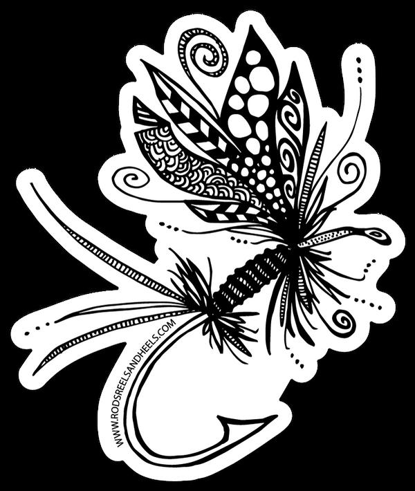 Festive Fish Sticker- Small