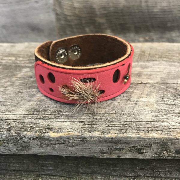 Foam Fly Leather Snap Cuff