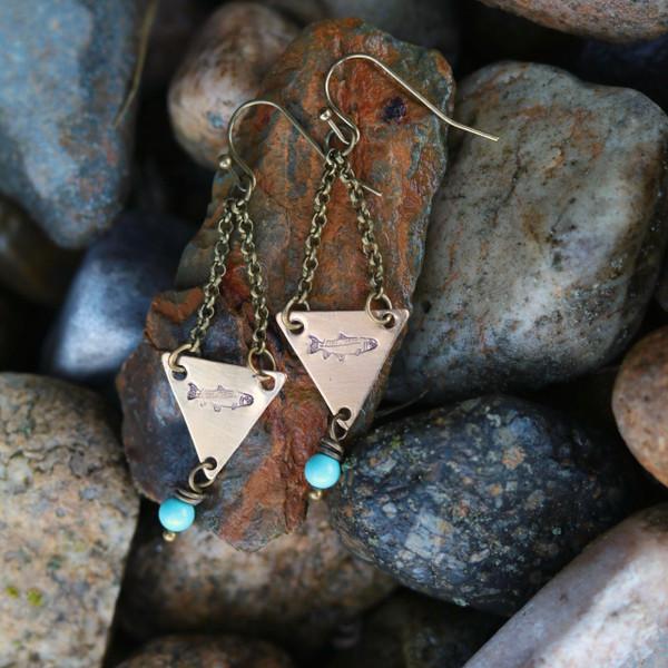 Triangle Trout Earrings