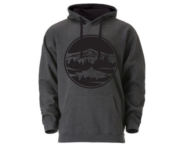 NEW!!  Mountain Trout Hoodie- Dark Grey/Black - Unisex