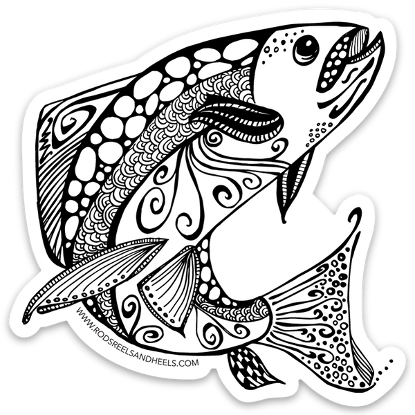 !New! Ruby River Fish Sticker- Small