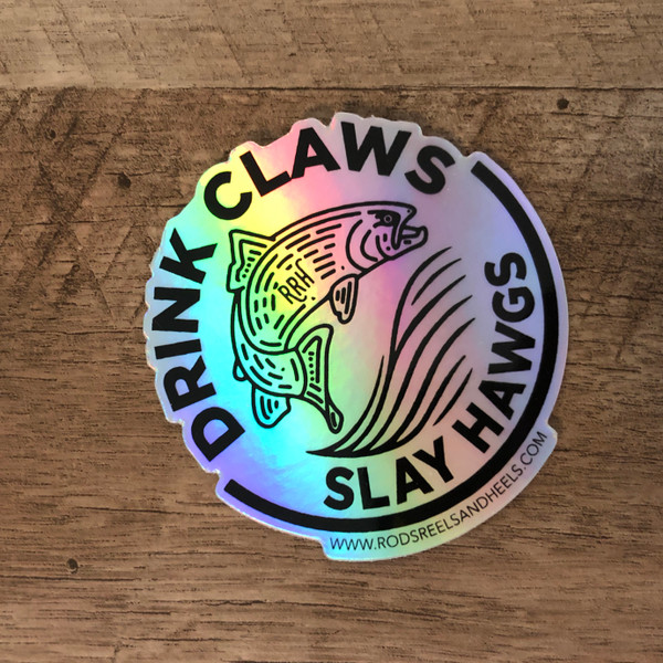 *NEW* Holographic Drink Claws Slay Hawgs Decal