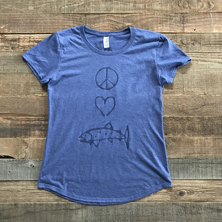 Peace. Love. Fish Tee
