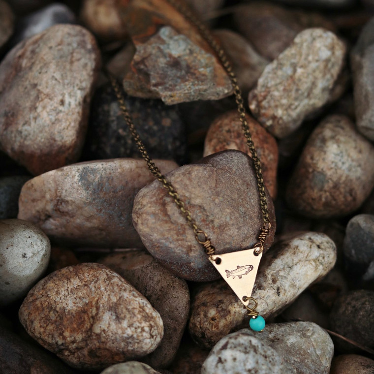 Triangle Trout Necklace