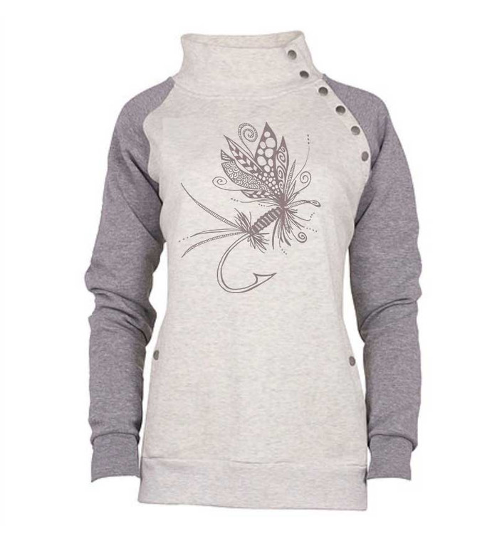 Festive Fly Snap Pullover