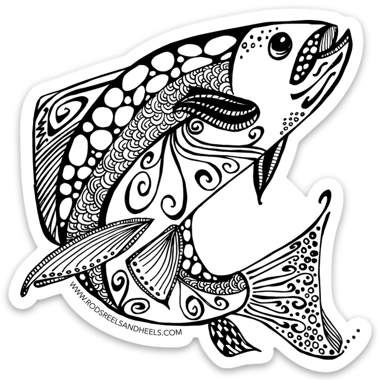 Ruby River Fish Sticker- Small