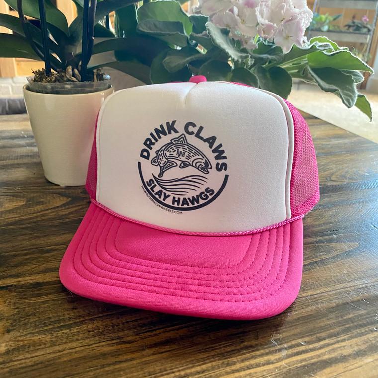 Pink- Drink Claws, Slay Hawgs Foamie Trucker