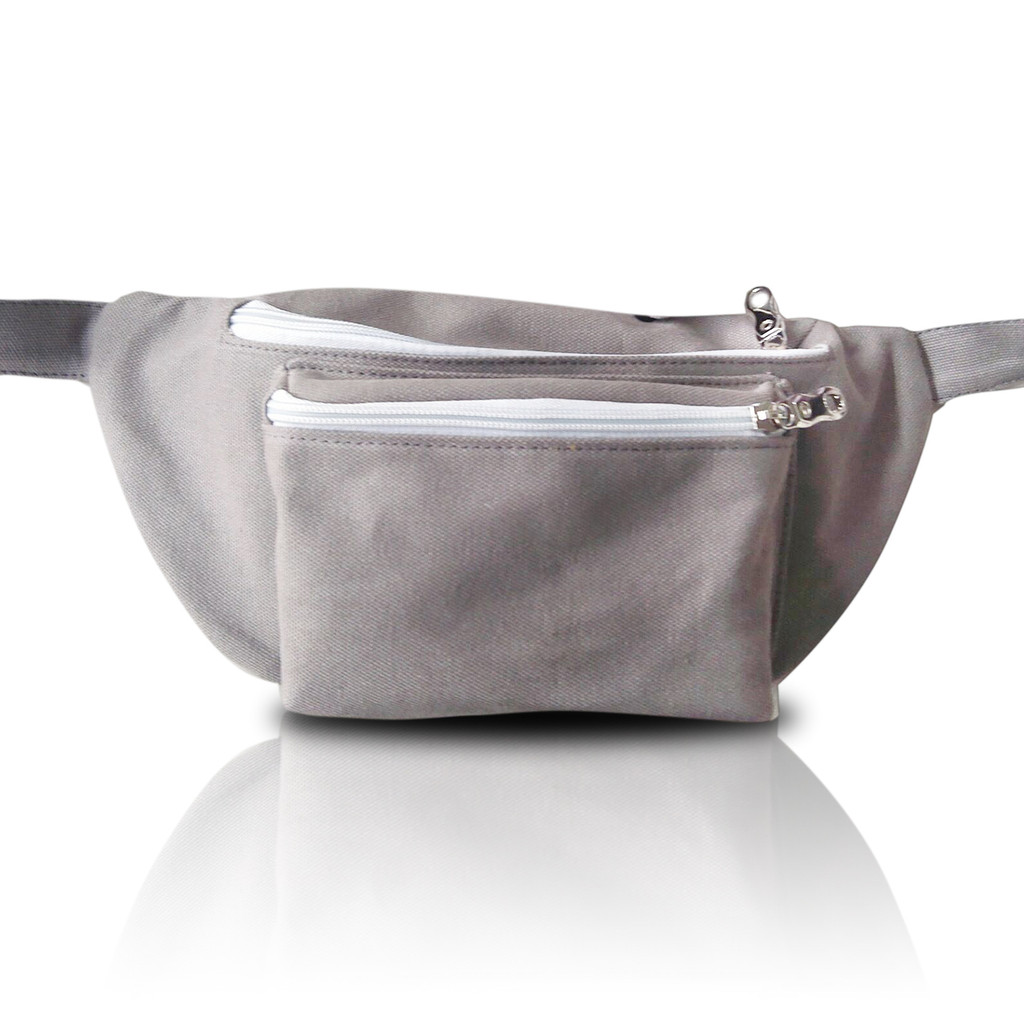 Gray Fanny Pack - Front