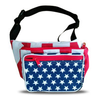 Front view of this USA fanny pack.
