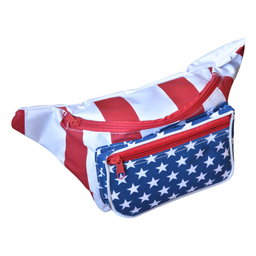Front view of this sweet American fanny pack.