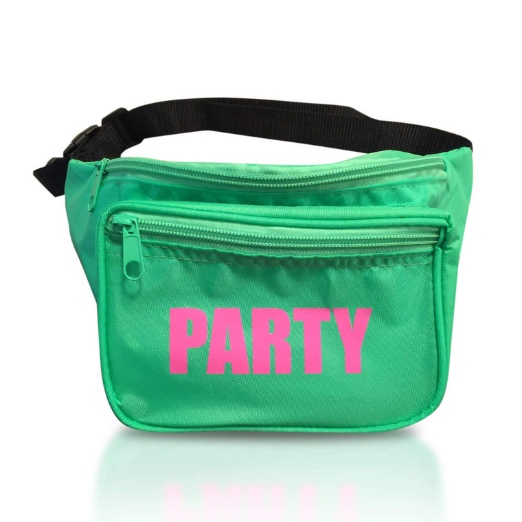 Neon Party Fanny Pack (Front)