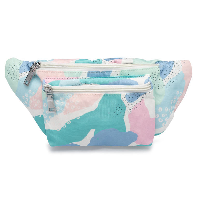 Front of pastel fanny pack