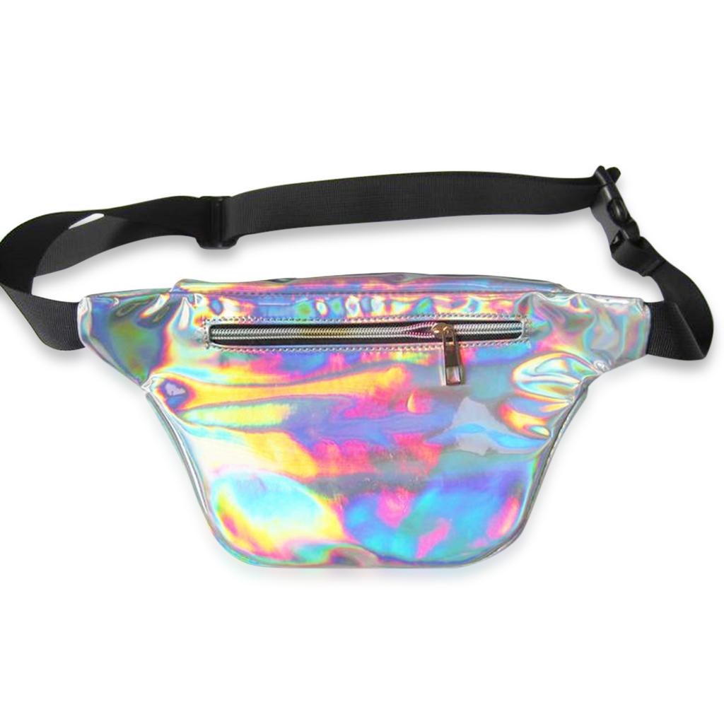 Holographic Silver or Gold Fanny Pack - Iridescent Shiny (Multiple Colors)