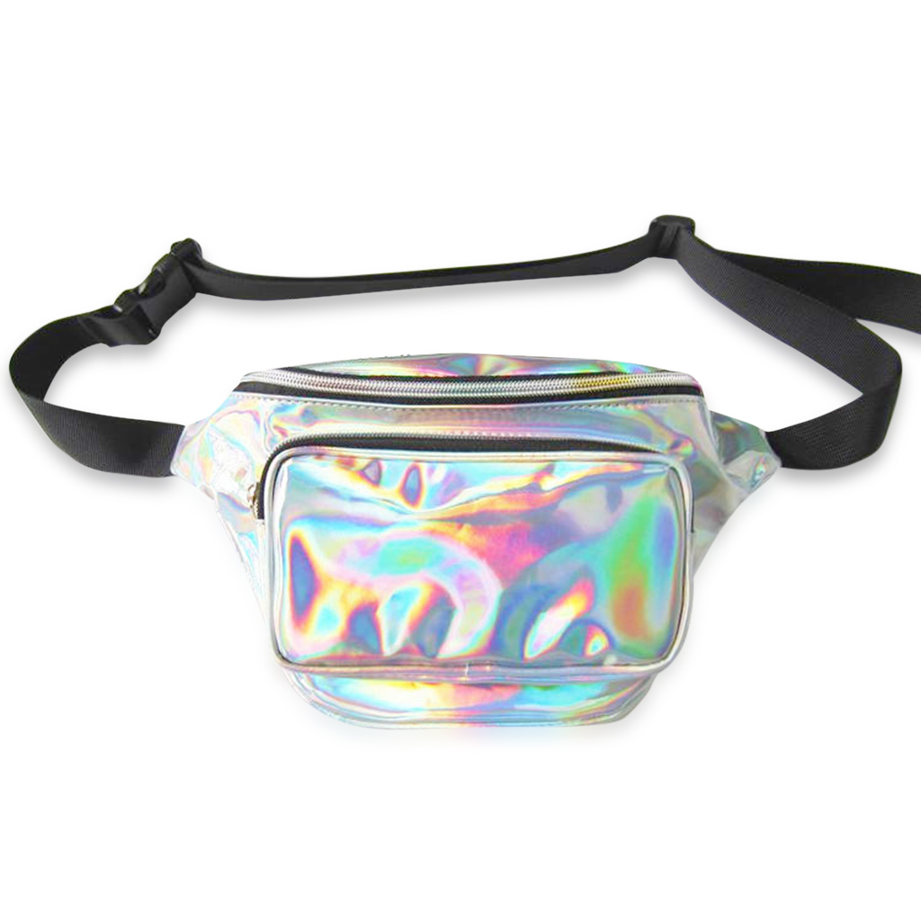 Holographic Fanny Pack Silver or Gold Iridescent Fanny Pack Shiny