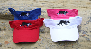 Embroidered Visor with Border Collie