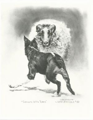 Dances With Rams Print by Cheryl Harley-Volzt