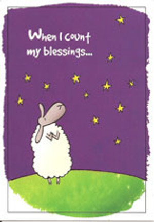 When I Count My Blessings Border Collie Note Card