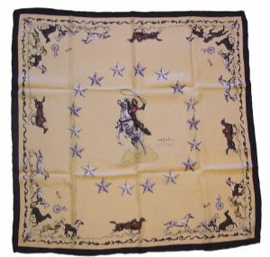 Limited Edition Silk Scarf Mustang Ivory