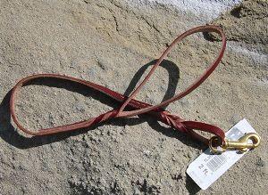 Twisted Leather Lead - Skinny