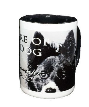 """Beware of the Dog"" Mug by Vickie Atkins Close"
