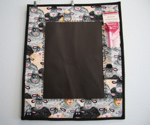 Chalk Memo Board - Black, Grey, Yellow Cartoon Sheep