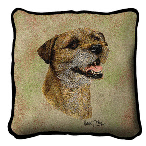 Border Terrier II Pillow