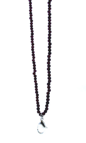 Red Granite beaded Lanyard