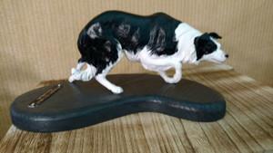 Custom Painted Border Collie