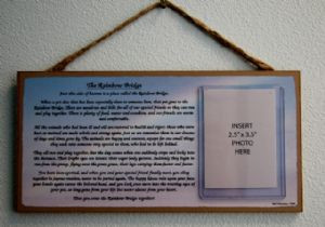 The Rainbow Bridge Memory Plaque