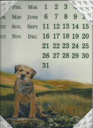 Border Terrier Magnetic Calendar