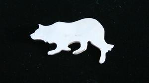 Border Collie Nickel Silver Pin/Brooch
