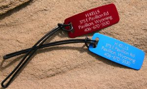 Engraved Luggage Tag