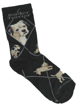 Border Terrier Socks - Black
