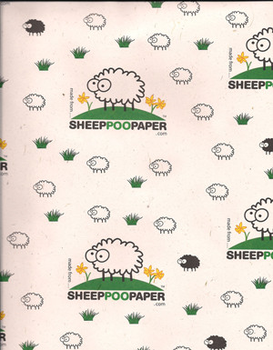Sheep Poo Wrapping Paper