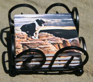 """Border Guard"" Coaster Set by Vickie Atkins Close"