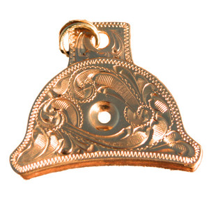 Engraved Sounder Brass Whistle