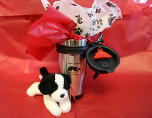 Valentine to Go Mug and Border Collie Gift Set