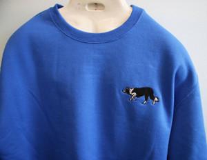 Blue Border Collie Crew neck Sweatshirt
