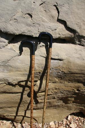 Buffalo Horn Shepherd Crook with a Hazel wood shaft. Handmade  in the UK.