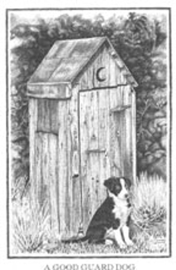 A Good Guard Dog Print, Limited Edition, by Ruth Deoudes Black