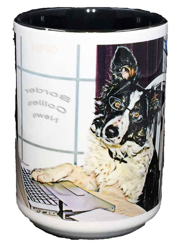 """Working Dog"" Border Collie Mug by Vickie Atkins Close"