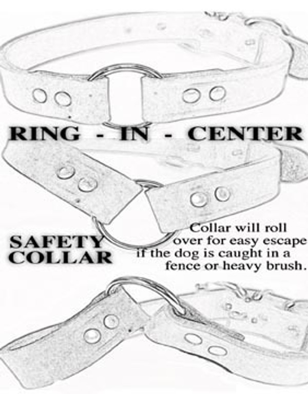 Leather Ring-in-Center Dog Collar