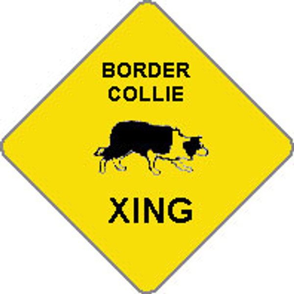 Border Collie Xing Sign